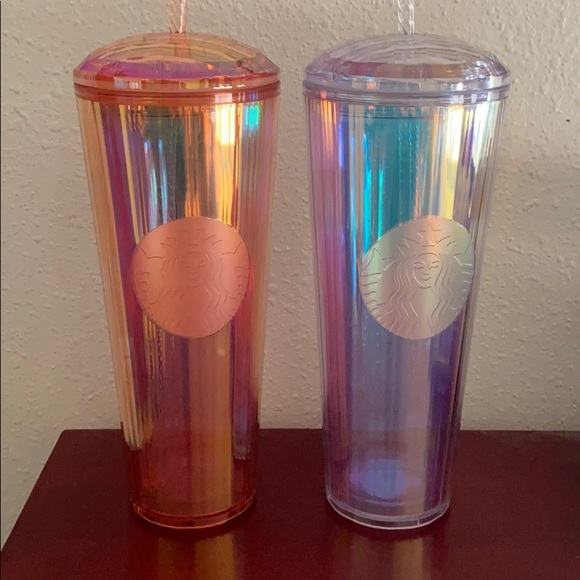 Summer Launch Rose Gold and Aurora Cold Tumblers